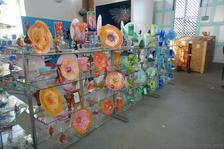 Colorful Glass Plates with Swirls for sale at Dockyard Glassworks Bermuda.jpg