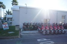Motorcycle scooters for rent at Bermuda Naval Dockyard.jpg
