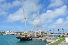 3 masted Schooner ship docked near Cruise Ship in Bermuda.jpg