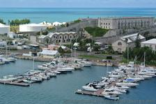 Yachts docked at piers off of Freeport Dr Bermuda.jpg