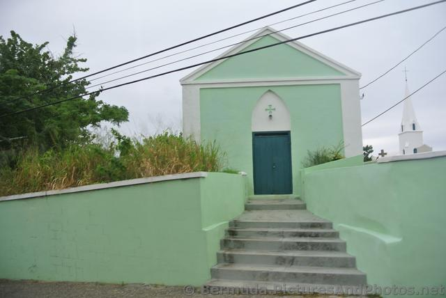 Small building of green St James Church Bermuda.jpg