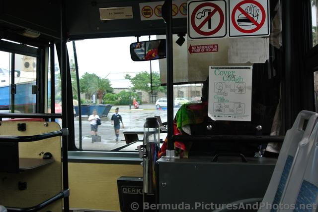 Inside a Pink Bermuda Bus near Royal Naval Dockyard.jpg