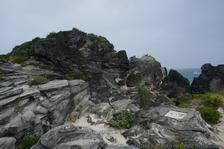 Rocky top of small hill at Horseshoe Bay Beach.jpg