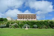 Commissioner's House perched atop of HIll at Royal Dockyward King's Wharf Bermuda.jpg
