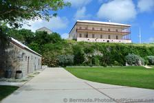 View of Commissioner's House after entering National Museum of Bermuda.jpg