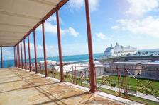 View of Cruise Ship from Balcony of Commissioner's House Bermuda Maritime Museum.jpg