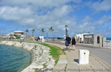 People walking to Naval Dockyard in Bermuda from cruise pier.jpg